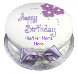 Beautiful silver cake for birthday