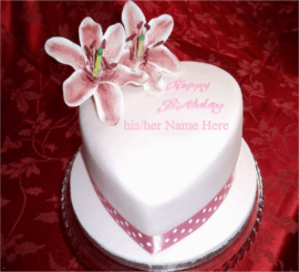 Beautiful pink cake for birthday