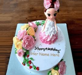 Doll cake for girls