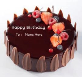 Chocolate Strawberries Birthday Cake