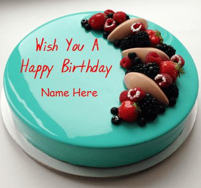 Sky colour cake for birthday