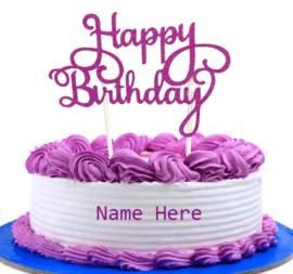 Purple Cream cake for birthday