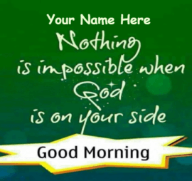 Good Morning with Beautiful Message