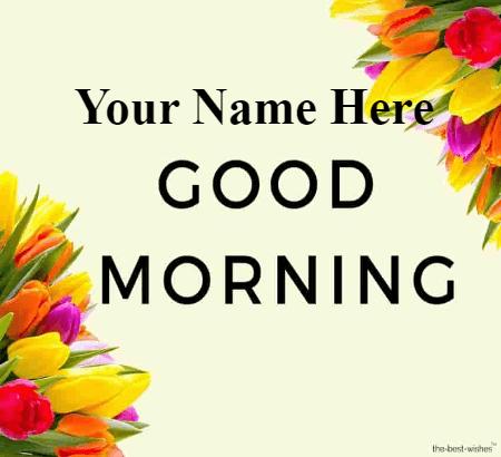 Simple Good Morning Card