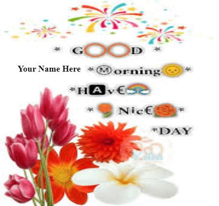Good Morning on Beautiful card