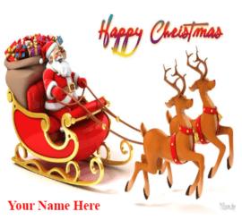Merry Christmas Santa Gift Arrives