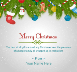 Merry Christmas Santa wishes for Family