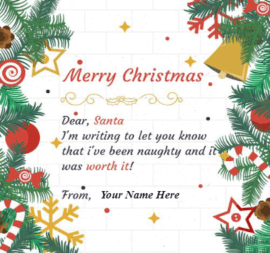 Message to Santa for Christmas
