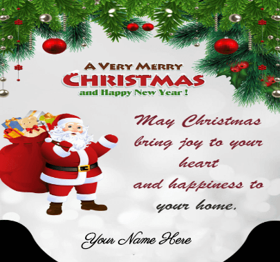 Happy Christmas Santa card
