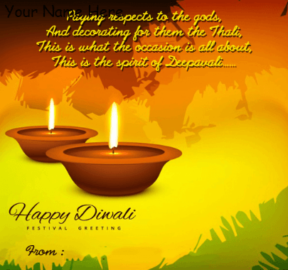 Happy Diwali Festival Greetings