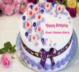 Birthday Cakes with flower