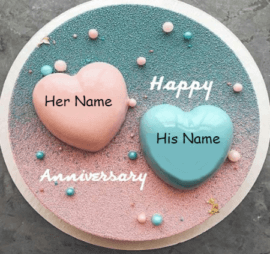 Anniversary cakes with names