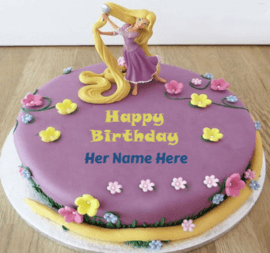 Cakes for beutiful long hair girl