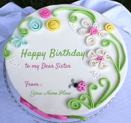 Special birthday cake for sister