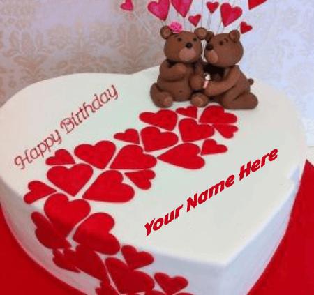 Birthday cakes in heart shape