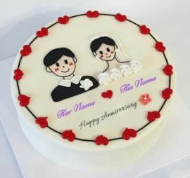 Weeding Anniversary Lovely Cake