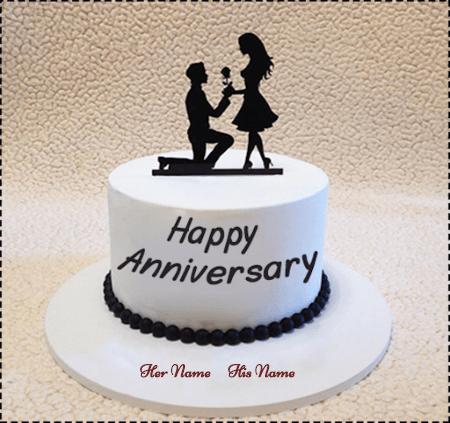 Anniversary cake for Love Birds