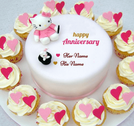 Happy Anniversary Cake for Couple