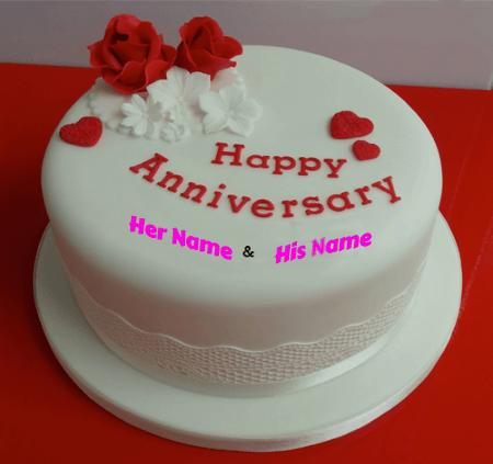 Happy Anniversary Cake Love for Couple