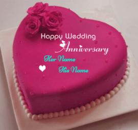 Happy Weeding Anniversary Cake Celebration