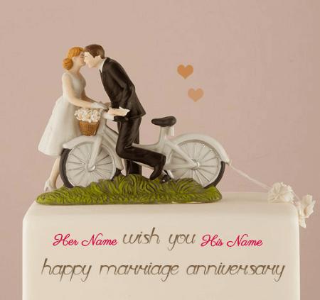 Love Couples Anniversary Cake