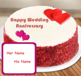 Happy Wedding Anniversary Cake Regards
