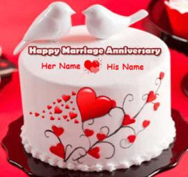 Love Birds Anniversary cake