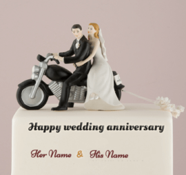 Wedding Anniversary Couple Cake