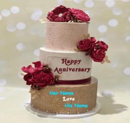 Happy Anniversary Love Marriage Cake