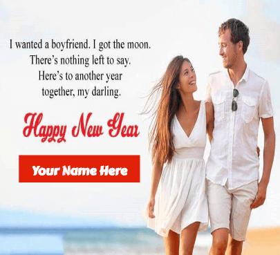 Happy New Year wish for boyfriend