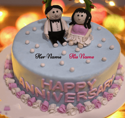 Happy Anniversary Cake for Old Couples