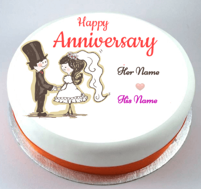 Happy Anniversary Lovely Weeding Cake