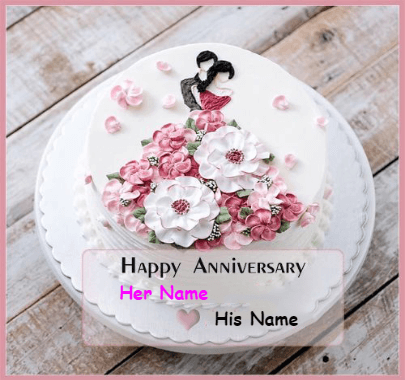 Happy Anniversary Lovers Couple Cake