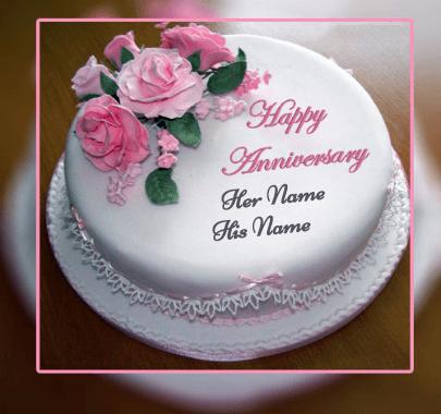 Happy Anniversary Beautiful Cake
