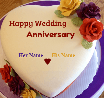 Wedding Anniversary With Cake Present