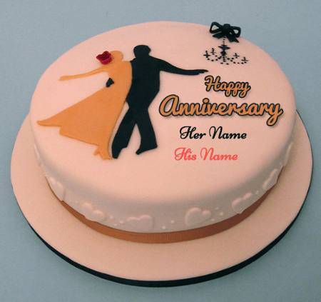 Happy Anniversary Marriage Cake