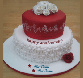 Happy Anniversary Marriage Cake for Couple