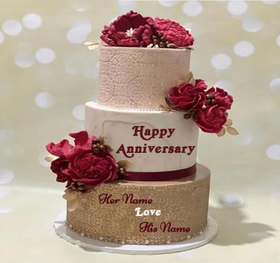 Happy Anniversary Love Wish cake