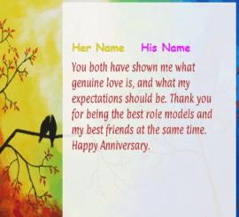 Happy Anniversary wish For Love Birds