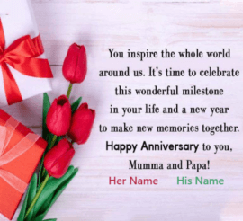 Happy Anniversary to you Mumma and Papa