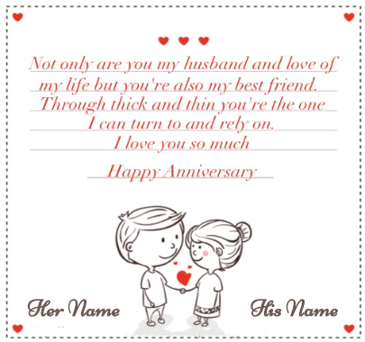 Happy Anniversary Wishes for Husband and Wife