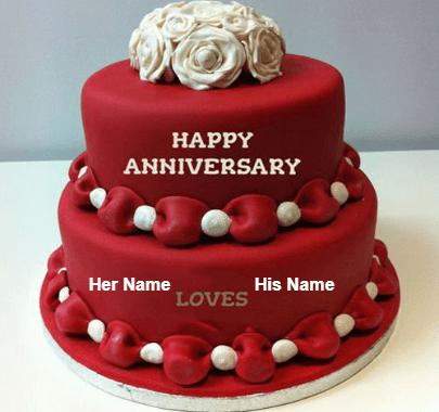 Happy Anniversary Dark Love Cake