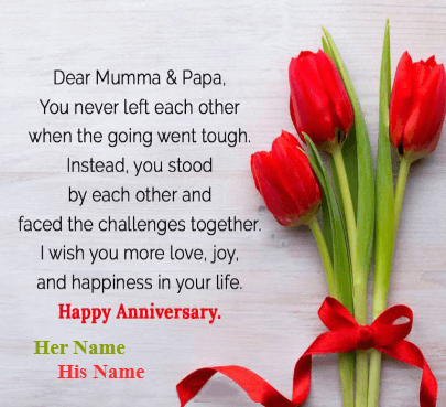 Happy Anniversary Wishes For Mumma & Papa
