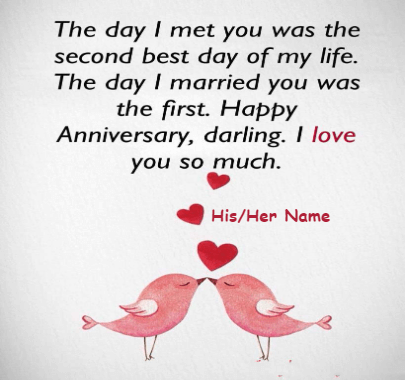 Happy Wedding Anniversary Wish