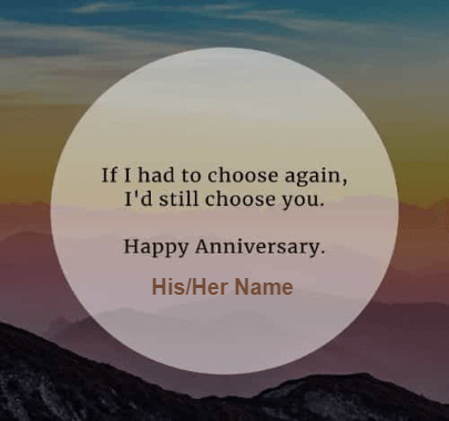 Anniversary Wishes my Love