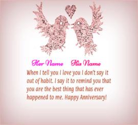 Happy Anniversary Wishes Love Birds