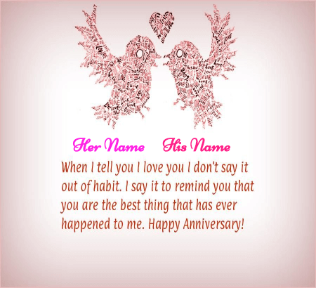 Happy Anniversary Wishes Love Birds