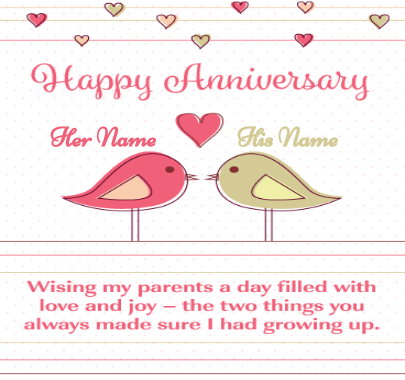 Happy Anniversary Parents Wishing