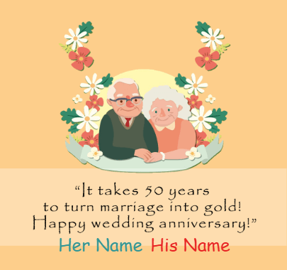 Happy 50th Anniversary for Couple Wishes