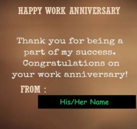 Happy Work Anniversary Quote